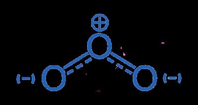 Wzór strukturalny ozonu